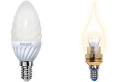 Лампа светодиодная E14 свеча
