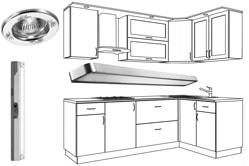 Светодиодные светильники для кухни под шкафы накладные