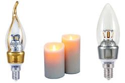 Светодиодные лампы свеча на ветру