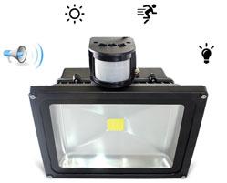 Светодиодные прожекторы с датчиком движения